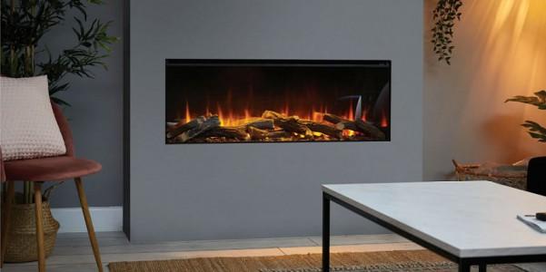 Электрокамин New forest electric fire 1200 (прямое стекло)