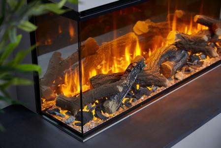 Электрокамин New forest electric fire 1200 (угловой левое стекло)