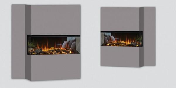 Электрокамин New forest electric fire 1200 ( три стекла п-образный)