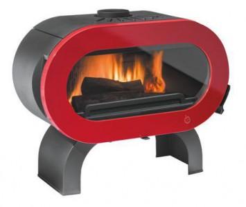 Печь-камин Invicta FIFTY arche красная эмаль