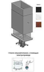 M360R/C Piazzetta  квадратный камин  16,4 kW