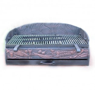 Чугунная вставка для барбекю - мангал под заказ любой размер