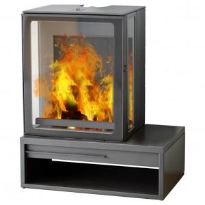 Дровяная дизайнерская печь Plamen Eco Minimal 35