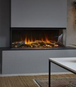 Электрокамин New forest electric fire 1200 (угловой правое стекло)